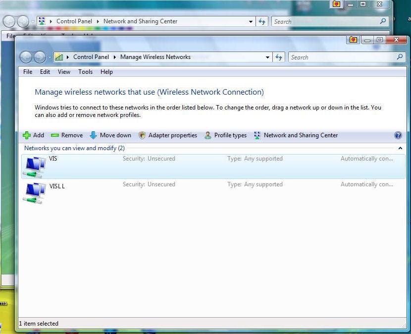 Windows Vista Automatic Wireless Connection